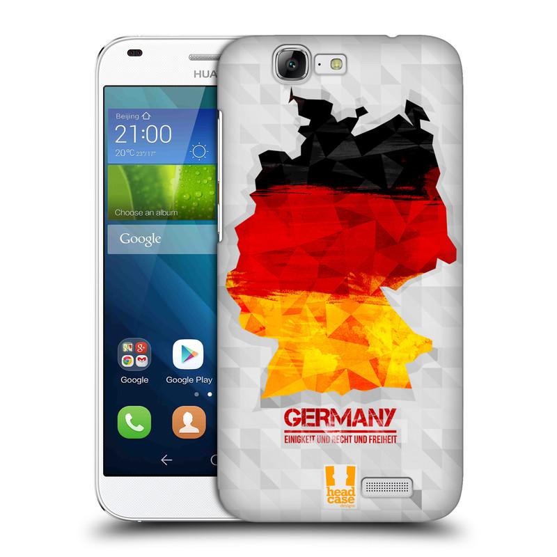 Plastové pouzdro na mobil Huawei Ascend G7 HEAD CASE GEOMAPA NĚMECKO (Kryt či obal na mobilní telefon Huawei Ascend G7)