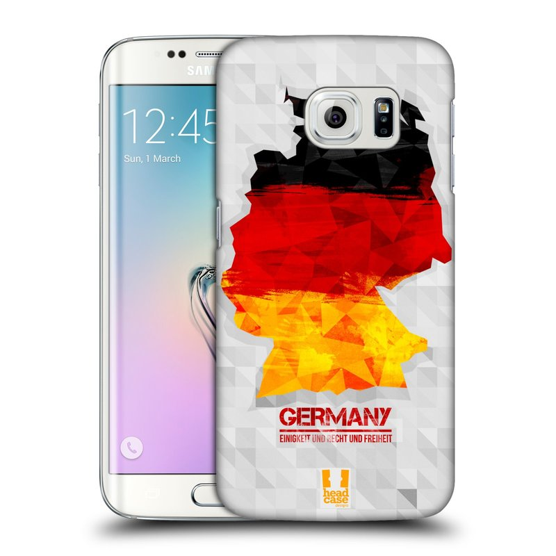 Plastové pouzdro na mobil Samsung Galaxy S6 Edge HEAD CASE GEOMAPA NĚMECKO (Kryt či obal na mobilní telefon Samsung Galaxy S6 Edge SM-G925F)
