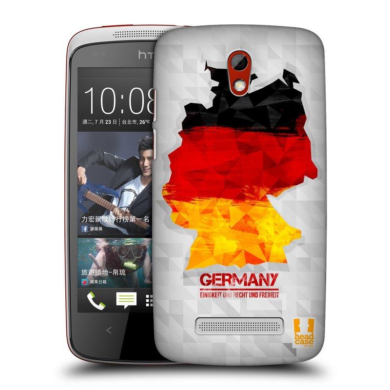 Plastové pouzdro na mobil HTC Desire 500 HEAD CASE GEOMAPA NĚMECKO (Kryt či obal na mobilní telefon HTC Desire 500)