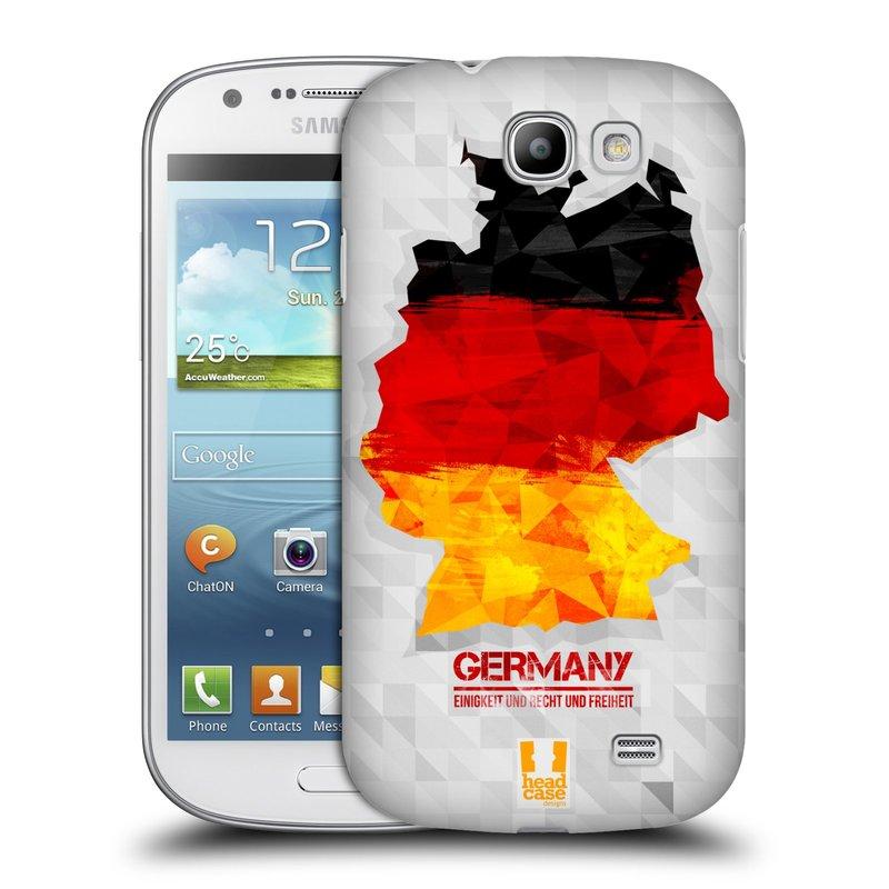 Plastové pouzdro na mobil Samsung Galaxy Express HEAD CASE GEOMAPA NĚMECKO (Kryt či obal na mobilní telefon Samsung Galaxy Express GT-i8730)