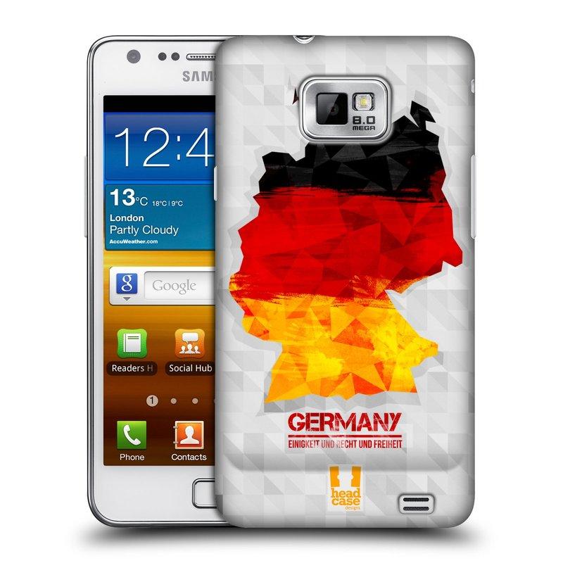 Plastové pouzdro na mobil Samsung Galaxy S II HEAD CASE GEOMAPA NĚMECKO (Kryt či obal na mobilní telefon Samsung Galaxy S II GT-i9100)