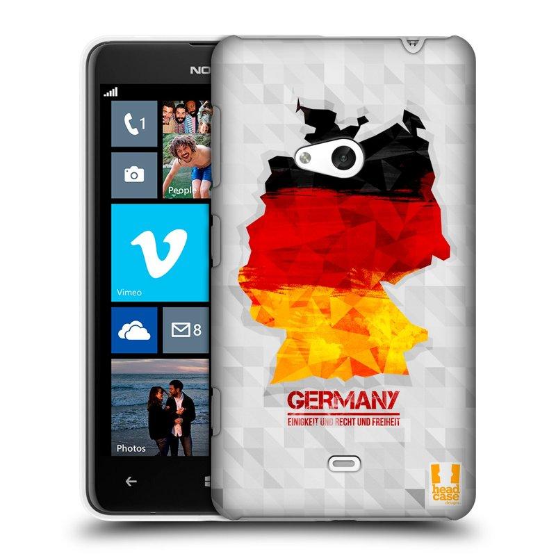 Plastové pouzdro na mobil Nokia Lumia 625 HEAD CASE GEOMAPA NĚMECKO (Kryt či obal na mobilní telefon Nokia Lumia 625)