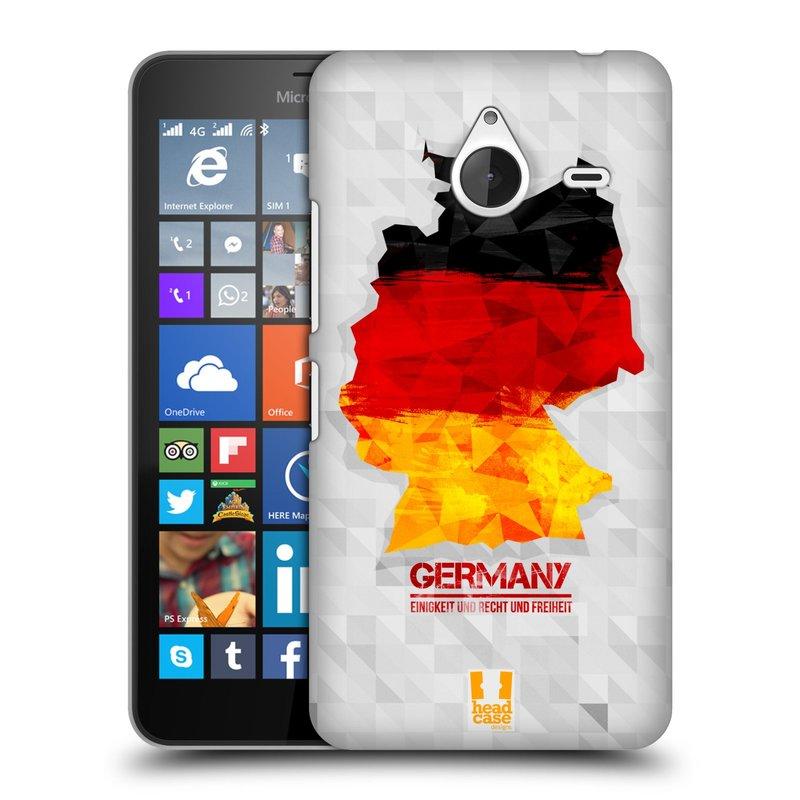 Plastové pouzdro na mobil Microsoft Lumia 640 XL HEAD CASE GEOMAPA NĚMECKO (Kryt či obal na mobilní telefon Microsoft Lumia 640 XL)