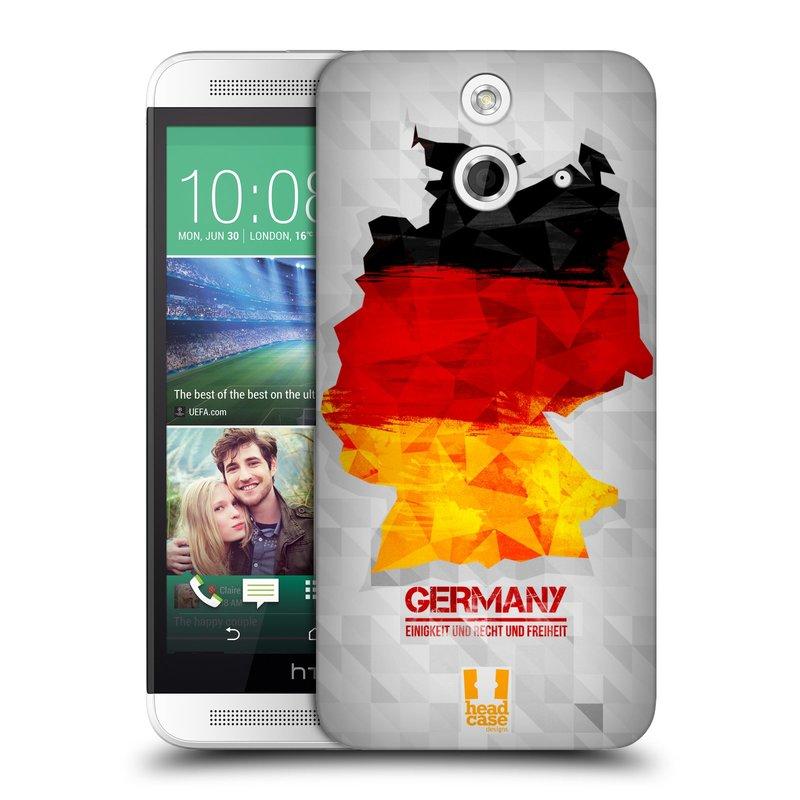 Plastové pouzdro na mobil HTC ONE E8 HEAD CASE GEOMAPA NĚMECKO (Kryt či obal na mobilní telefon HTC ONE E8)