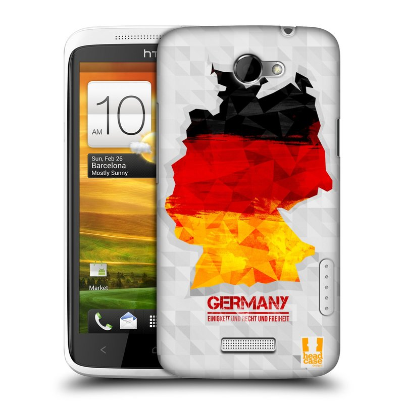 Plastové pouzdro na mobil HTC ONE X HEAD CASE GEOMAPA NĚMECKO (Kryt či obal na mobilní telefon HTC ONE X)