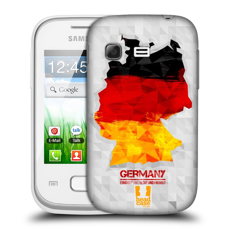 Plastové pouzdro na mobil Samsung Galaxy Pocket HEAD CASE GEOMAPA NĚMECKO (Kryt či obal na mobilní telefon Samsung Galaxy Pocket GT-S5300)