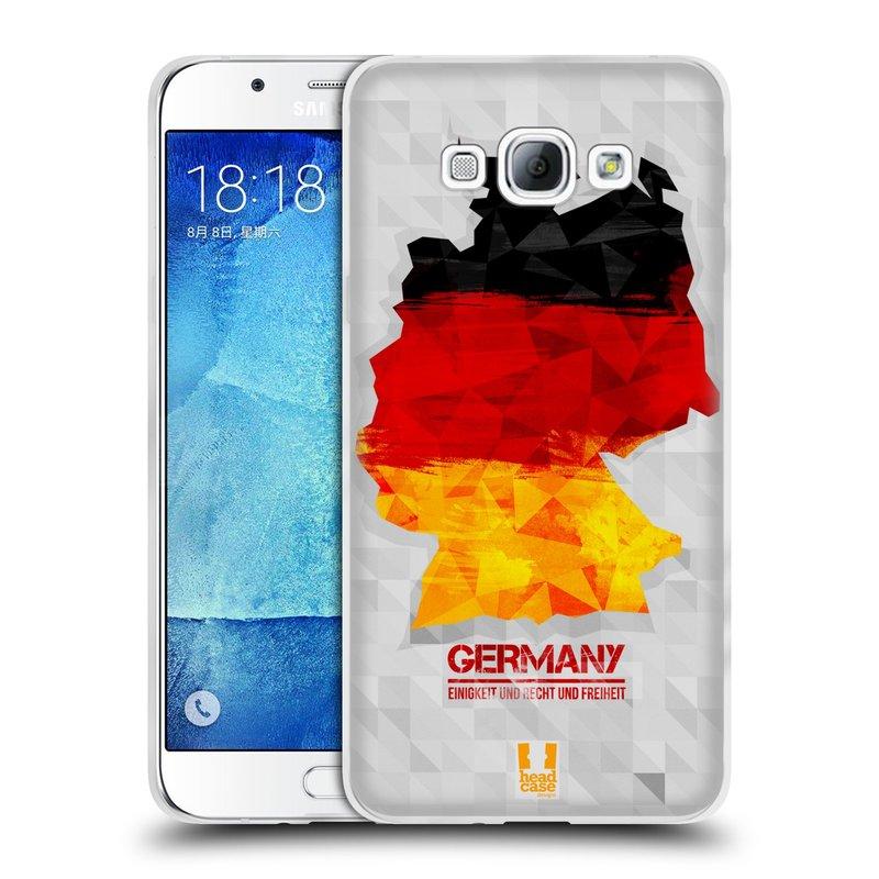 Silikonové pouzdro na mobil Samsung Galaxy A8 HEAD CASE GEOMAPA NĚMECKO (Silikonový kryt či obal na mobilní telefon Samsung Galaxy A8 SM-A800)
