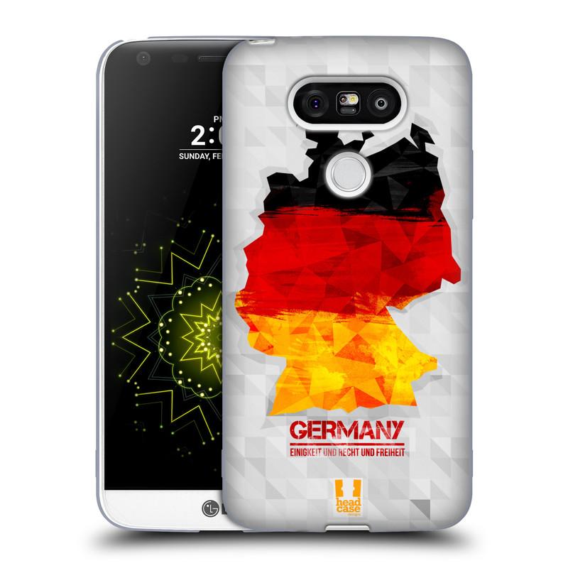 Silikonové pouzdro na mobil LG G5 HEAD CASE GEOMAPA NĚMECKO (Silikonový kryt či obal na mobilní telefon LG G5 H850)