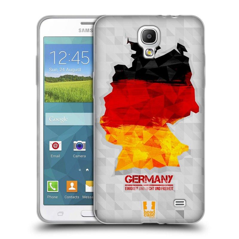 Silikonové pouzdro na mobil Samsung Galaxy Grand Mega 2 HEAD CASE GEOMAPA NĚMECKO (Silikonový kryt či obal na mobilní telefon Samsung Galaxy Grand Mega 2 SM-G750)