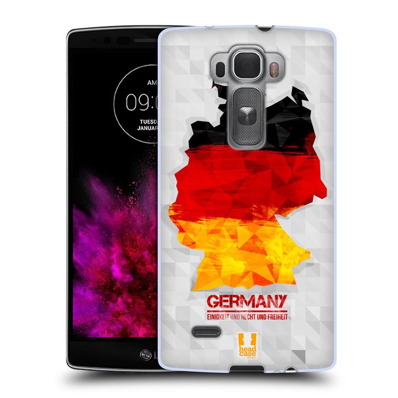 Silikonové pouzdro na mobil LG G Flex 2 HEAD CASE GEOMAPA NĚMECKO (Silikonový kryt či obal na mobilní telefon LG G Flex 2 H955)