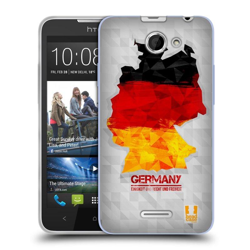 Silikonové pouzdro na mobil HTC Desire 516 HEAD CASE GEOMAPA NĚMECKO (Silikonový kryt či obal na mobilní telefon HTC Desire 516 Dual SIM)