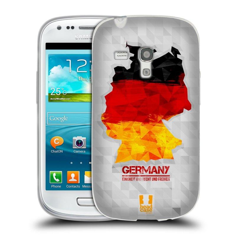 Silikonové pouzdro na mobil Samsung Galaxy S III Mini HEAD CASE GEOMAPA NĚMECKO (Silikonový kryt či obal na mobilní telefon Samsung Galaxy S III Mini GT-i8190)