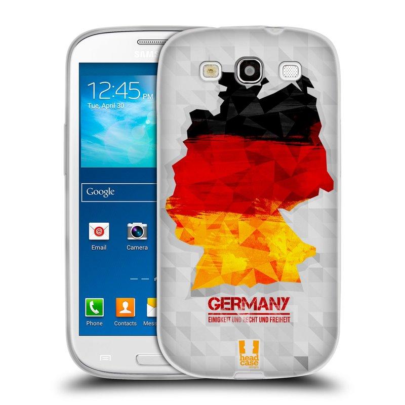 Silikonové pouzdro na mobil Samsung Galaxy S III HEAD CASE GEOMAPA NĚMECKO (Silikonový kryt či obal na mobilní telefon Samsung Galaxy S III GT-i9300)