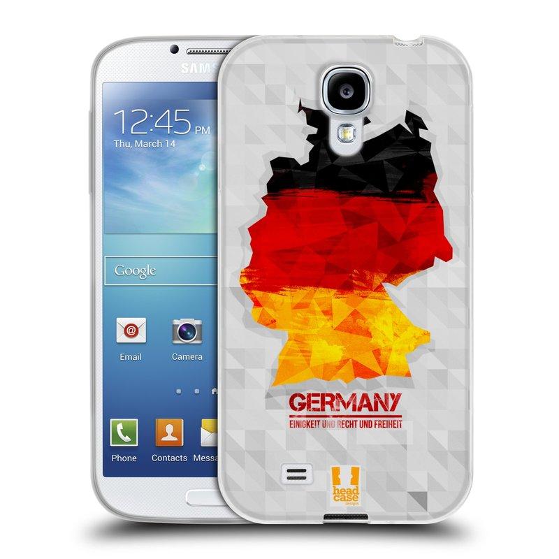Silikonové pouzdro na mobil Samsung Galaxy S4 HEAD CASE GEOMAPA NĚMECKO (Silikonový kryt či obal na mobilní telefon Samsung Galaxy S4 GT-i9505 / i9500)