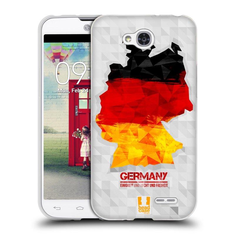 Silikonové pouzdro na mobil LG L90 HEAD CASE GEOMAPA NĚMECKO (Silikonový kryt či obal na mobilní telefon LG L90 D405n)