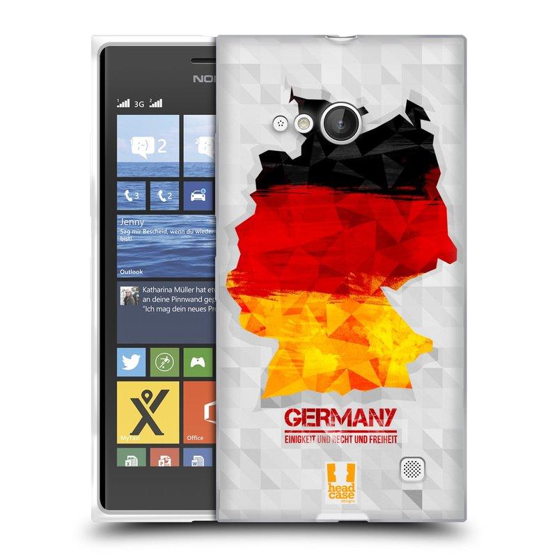 Silikonové pouzdro na mobil Nokia Lumia 730 Dual SIM HEAD CASE GEOMAPA NĚMECKO (Silikonový kryt či obal na mobilní telefon Nokia Lumia 730 Dual SIM)
