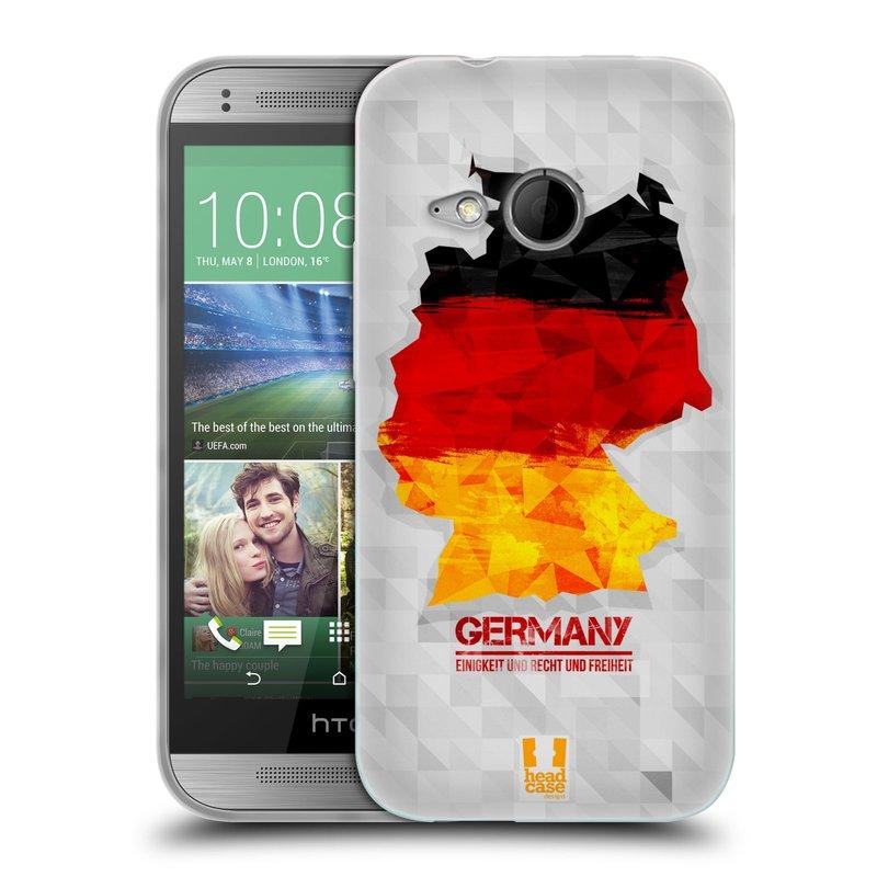 Silikonové pouzdro na mobil HTC ONE Mini 2 HEAD CASE GEOMAPA NĚMECKO (Silikonový kryt či obal na mobilní telefon HTC ONE Mini 2)