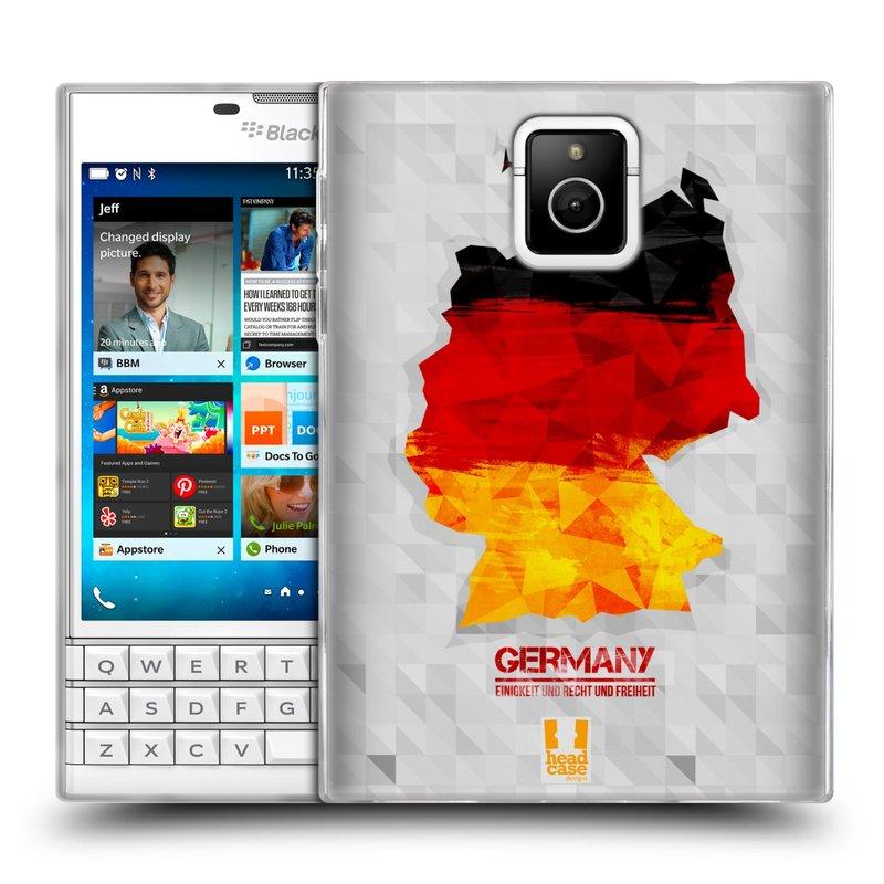 Silikonové pouzdro na mobil Blackberry PASSPORT HEAD CASE GEOMAPA NĚMECKO (Silikonový kryt či obal na mobilní telefon Blackberry PASSPORT)