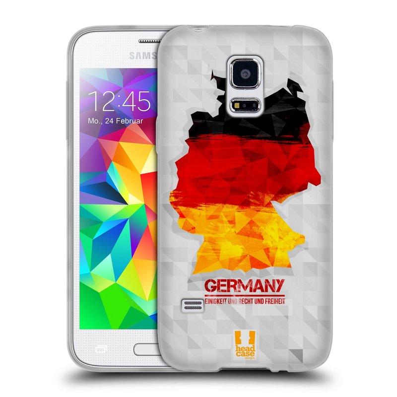 Silikonové pouzdro na mobil Samsung Galaxy S5 Mini HEAD CASE GEOMAPA NĚMECKO (Silikonový kryt či obal na mobilní telefon Samsung Galaxy S5 Mini SM-G800F)