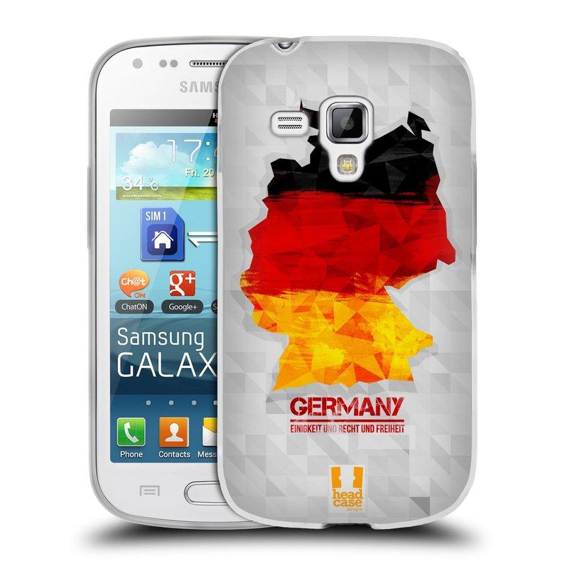 Silikonové pouzdro na mobil Samsung Galaxy S Duos HEAD CASE GEOMAPA NĚMECKO (Silikonový kryt či obal na mobilní telefon Samsung Galaxy S Duos GT-S7562)