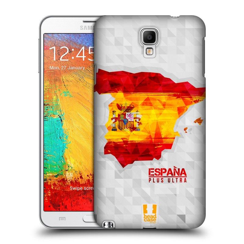 Plastové pouzdro na mobil Samsung Galaxy Note 3 Neo HEAD CASE GEOMAPA ŠPANĚLSKO (Kryt či obal na mobilní telefon Samsung Galaxy Note 3 Neo SM-N7505)