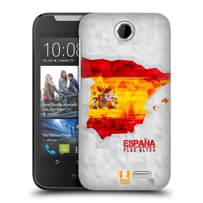 Plastové pouzdro na mobil HTC Desire 310 HEAD CASE GEOMAPA ŠPANĚLSKO (Kryt či obal na mobilní telefon HTC Desire 310)