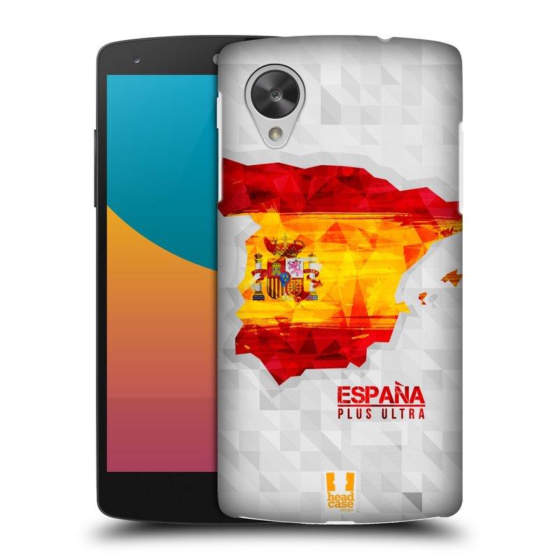 Plastové pouzdro na mobil LG Nexus 5 HEAD CASE GEOMAPA ŠPANĚLSKO (Kryt či obal na mobilní telefon LG Google Nexus 5 D821)