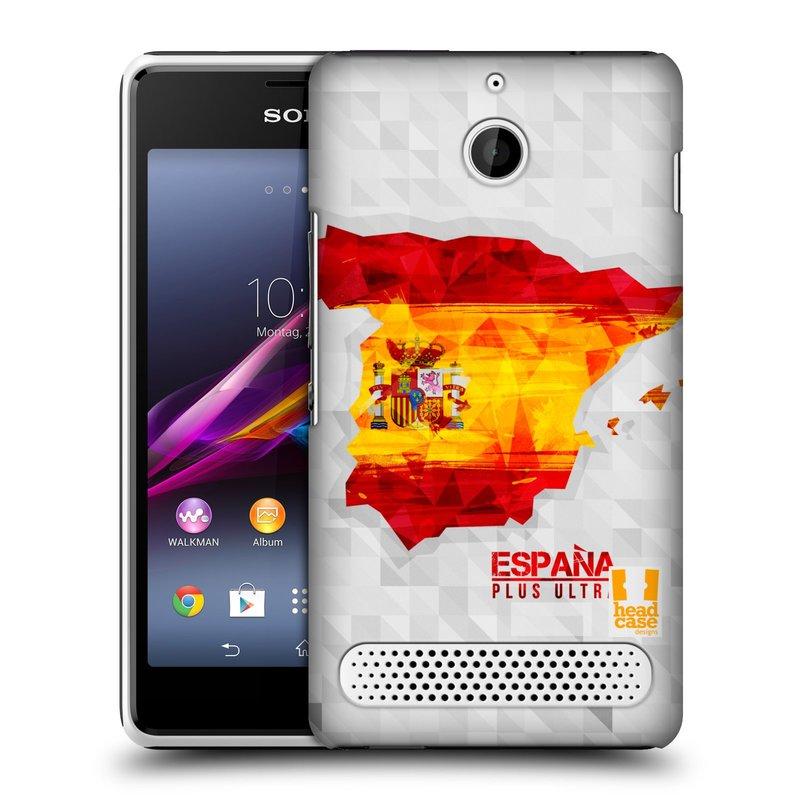 Plastové pouzdro na mobil Sony Xperia E1 D2005 HEAD CASE GEOMAPA ŠPANĚLSKO (Kryt či obal na mobilní telefon Sony Xperia E1 a E1 Dual )
