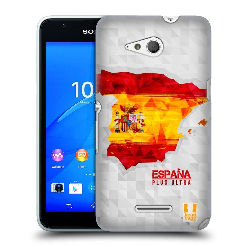 Plastové pouzdro na mobil Sony Xperia E4g E2003 HEAD CASE GEOMAPA ŠPANĚLSKO (Kryt či obal na mobilní telefon Sony Xperia E4g a E4g Dual SIM)