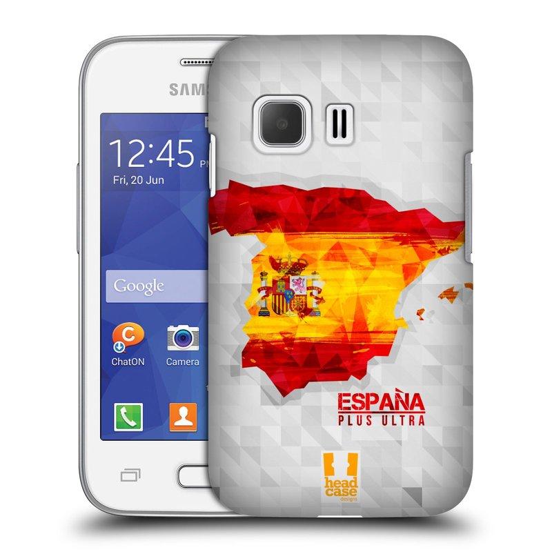 Plastové pouzdro na mobil Samsung Galaxy Young 2 HEAD CASE GEOMAPA ŠPANĚLSKO (Kryt či obal na mobilní telefon Samsung Galaxy Young 2 SM-G130)