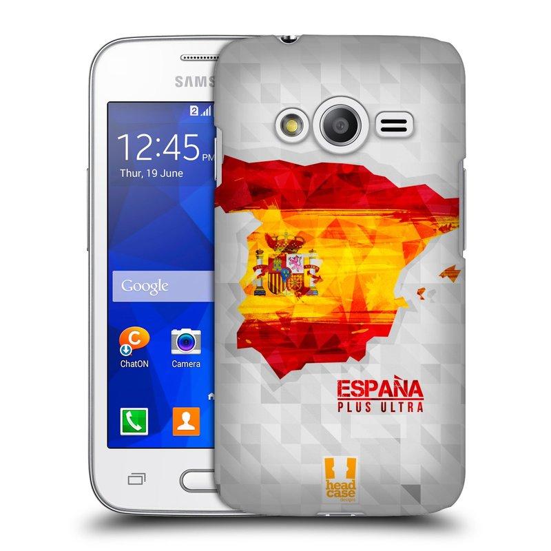 Plastové pouzdro na mobil Samsung Galaxy Trend 2 Lite HEAD CASE GEOMAPA ŠPANĚLSKO (Kryt či obal na mobilní telefon Samsung Galaxy Trend 2 Lite SM-G318)