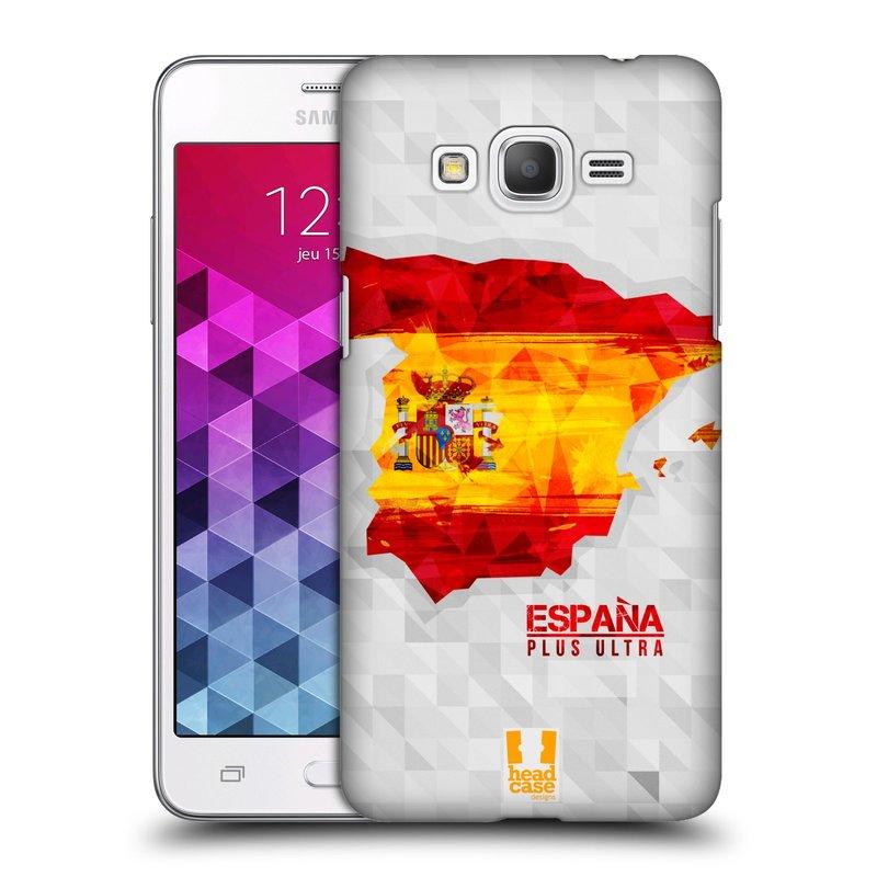 Plastové pouzdro na mobil Samsung Galaxy Grand Prime HEAD CASE GEOMAPA ŠPANĚLSKO (Kryt či obal na mobilní telefon Samsung Galaxy Grand Prime SM-G530)