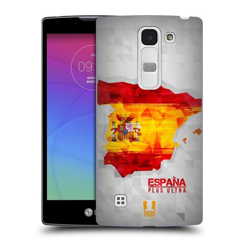 Plastové pouzdro na mobil LG Spirit LTE HEAD CASE GEOMAPA ŠPANĚLSKO (Kryt či obal na mobilní telefon LG Spirit H420 a LG Spirit LTE H440N)