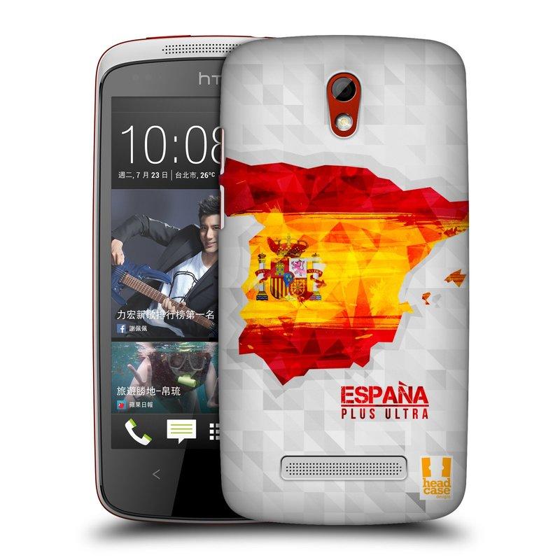 Plastové pouzdro na mobil HTC Desire 500 HEAD CASE GEOMAPA ŠPANĚLSKO (Kryt či obal na mobilní telefon HTC Desire 500)