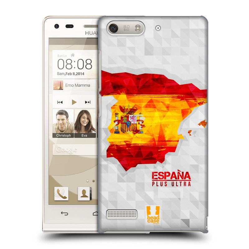 Plastové pouzdro na mobil Huawei Ascend G6 HEAD CASE GEOMAPA ŠPANĚLSKO (Kryt či obal na mobilní telefon Huawei Ascend G6 bez LTE)