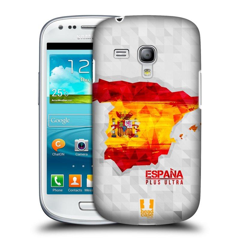 Plastové pouzdro na mobil Samsung Galaxy S III Mini HEAD CASE GEOMAPA ŠPANĚLSKO (Kryt či obal na mobilní telefon Samsung Galaxy S III Mini GT-i8190)