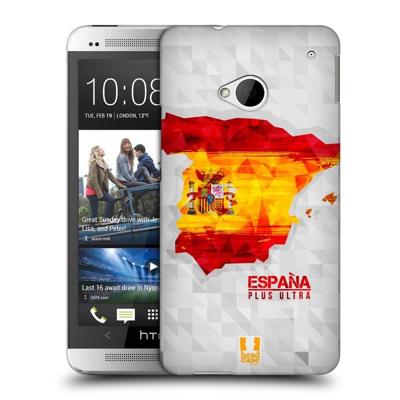Plastové pouzdro na mobil HTC ONE M7 HEAD CASE GEOMAPA ŠPANĚLSKO (Kryt či obal na mobilní telefon HTC ONE M7)