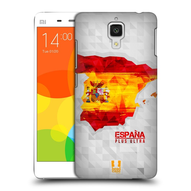 Plastové pouzdro na mobil Doogee Hitman DG850 HEAD CASE GEOMAPA ŠPANĚLSKO (Kryt či obal na mobilní telefon Doogee Hitman DG850)