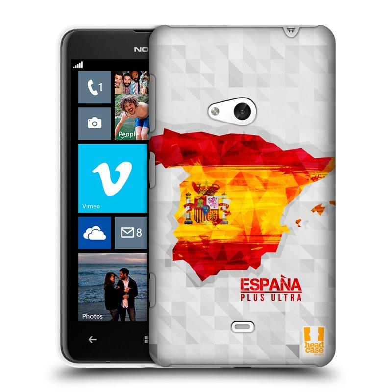 Plastové pouzdro na mobil Nokia Lumia 625 HEAD CASE GEOMAPA ŠPANĚLSKO (Kryt či obal na mobilní telefon Nokia Lumia 625)
