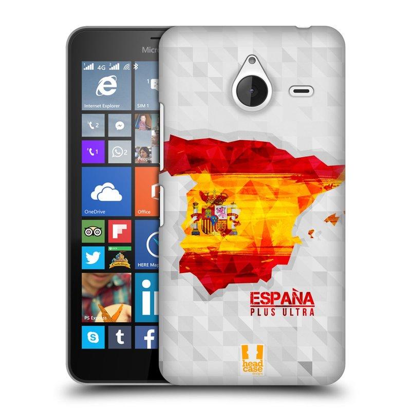 Plastové pouzdro na mobil Microsoft Lumia 640 XL HEAD CASE GEOMAPA ŠPANĚLSKO (Kryt či obal na mobilní telefon Microsoft Lumia 640 XL)