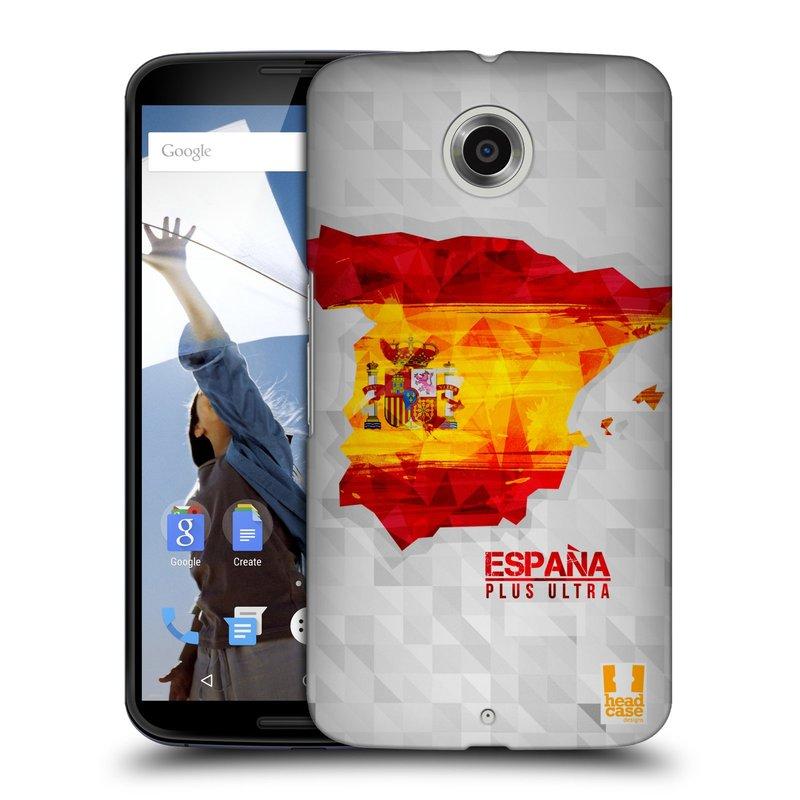 Plastové pouzdro na mobil Motorola Nexus 6 HEAD CASE GEOMAPA ŠPANĚLSKO (Kryt či obal na mobilní telefon Motorola Nexus 6)