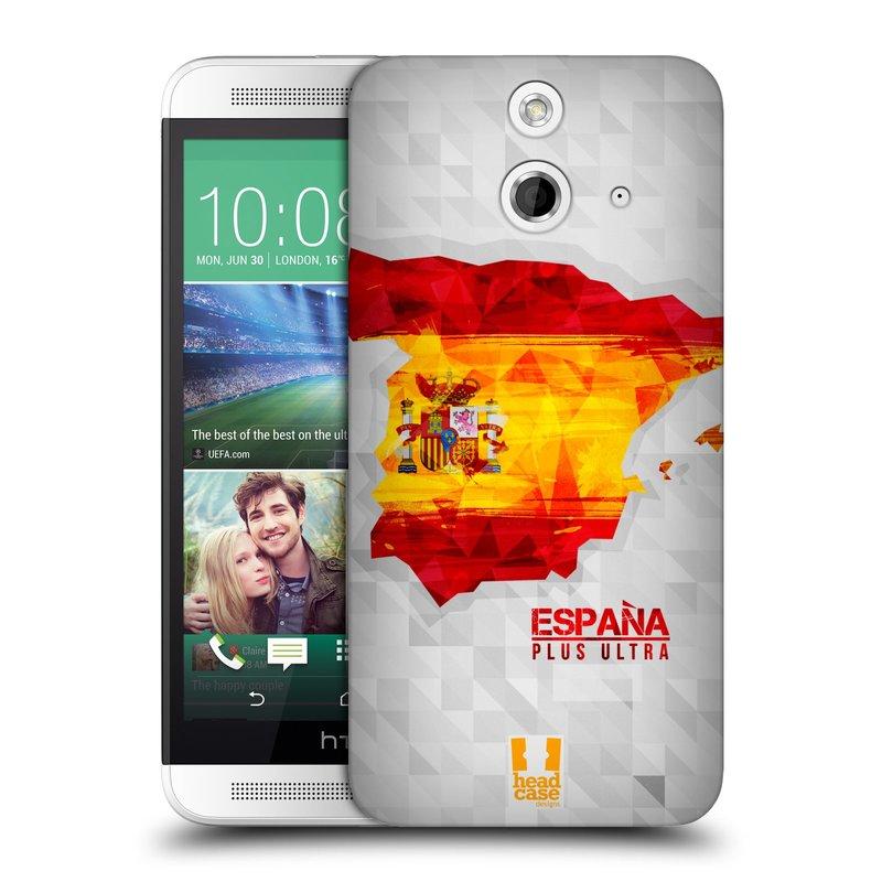 Plastové pouzdro na mobil HTC ONE E8 HEAD CASE GEOMAPA ŠPANĚLSKO (Kryt či obal na mobilní telefon HTC ONE E8)