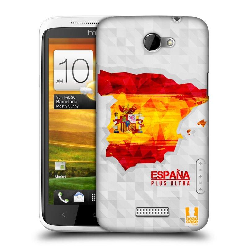 Plastové pouzdro na mobil HTC ONE X HEAD CASE GEOMAPA ŠPANĚLSKO (Kryt či obal na mobilní telefon HTC ONE X)