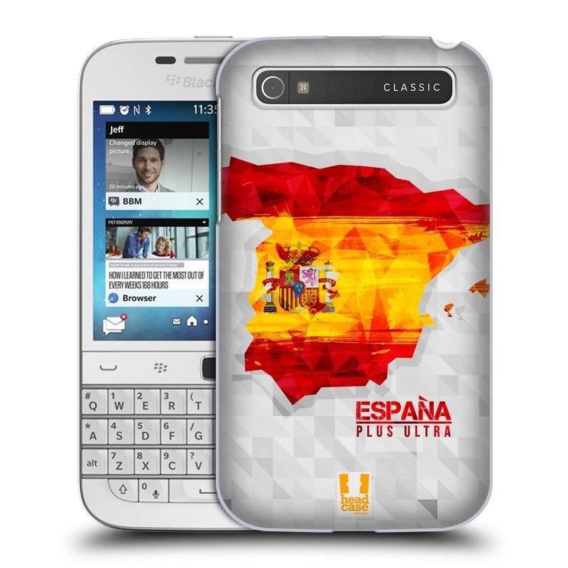 Plastové pouzdro na mobil Blackberry Classic HEAD CASE GEOMAPA ŠPANĚLSKO (Kryt či obal na mobilní telefon Blackberry Classic)