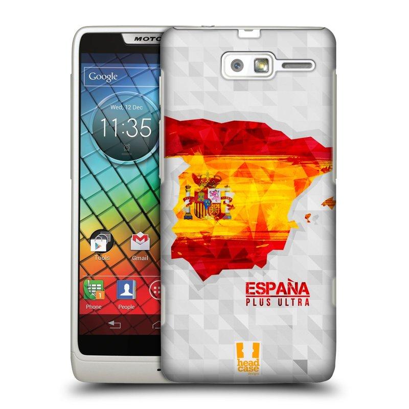 Plastové pouzdro na mobil Motorola Razr i XT890 HEAD CASE GEOMAPA ŠPANĚLSKO (Kryt či obal na mobilní telefon Motorola Razr i XT890)