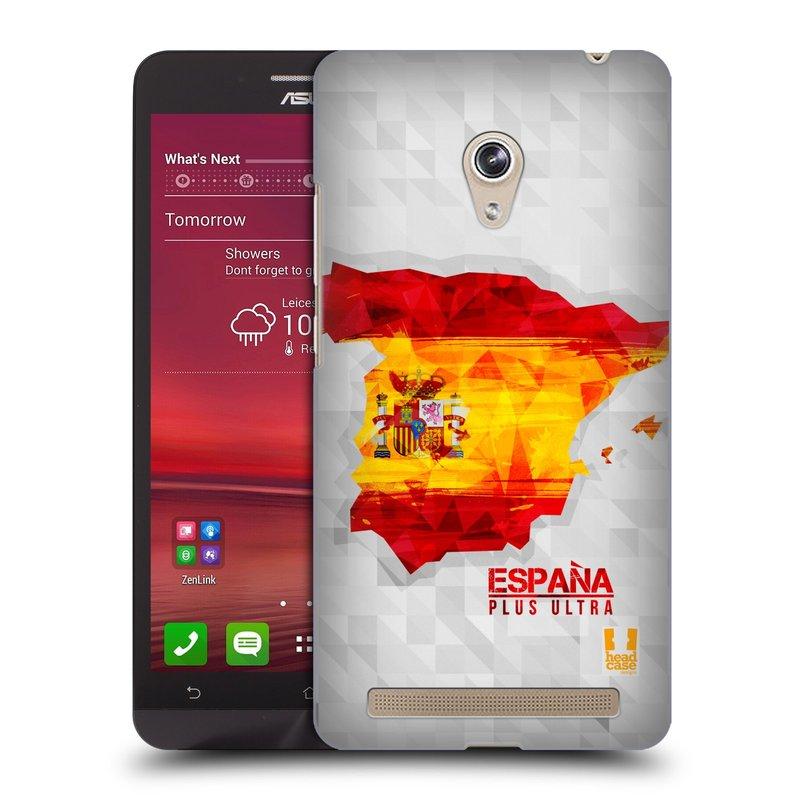 Plastové pouzdro na mobil Asus Zenfone 6 HEAD CASE GEOMAPA ŠPANĚLSKO (Kryt či obal na mobilní telefon Asus Zenfone 6 A600CG / A601CG)