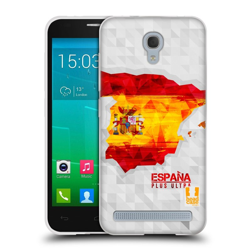 Silikonové pouzdro na mobil Alcatel One Touch Idol 2 Mini S 6036Y HEAD CASE GEOMAPA ŠPANĚLSKO (Silikonový kryt či obal na mobilní telefon Alcatel Idol 2 Mini S OT-6036Y)