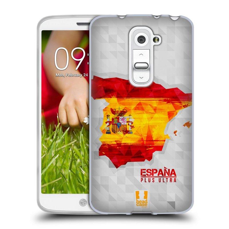Silikonové pouzdro na mobil LG G2 Mini HEAD CASE GEOMAPA ŠPANĚLSKO (Silikonový kryt či obal na mobilní telefon LG G2 Mini D620)