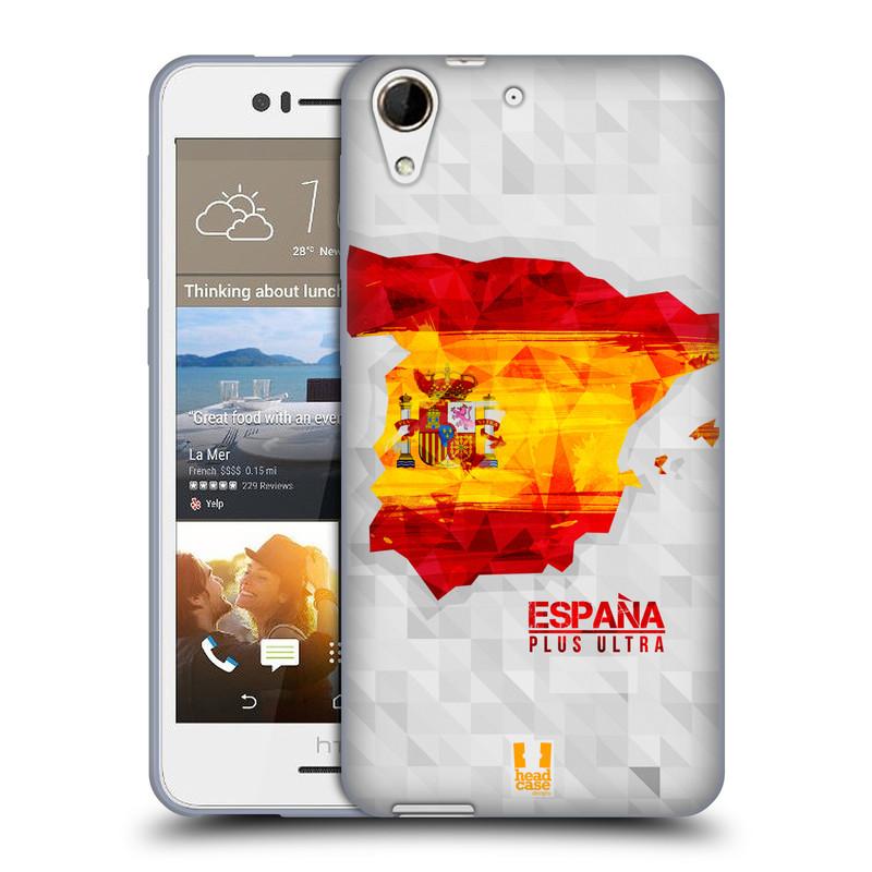 Silikonové pouzdro na mobil HTC Desire 728G Dual SIM HEAD CASE GEOMAPA ŠPANĚLSKO (Silikonový kryt či obal na mobilní telefon HTC Desire 728 G Dual SIM)