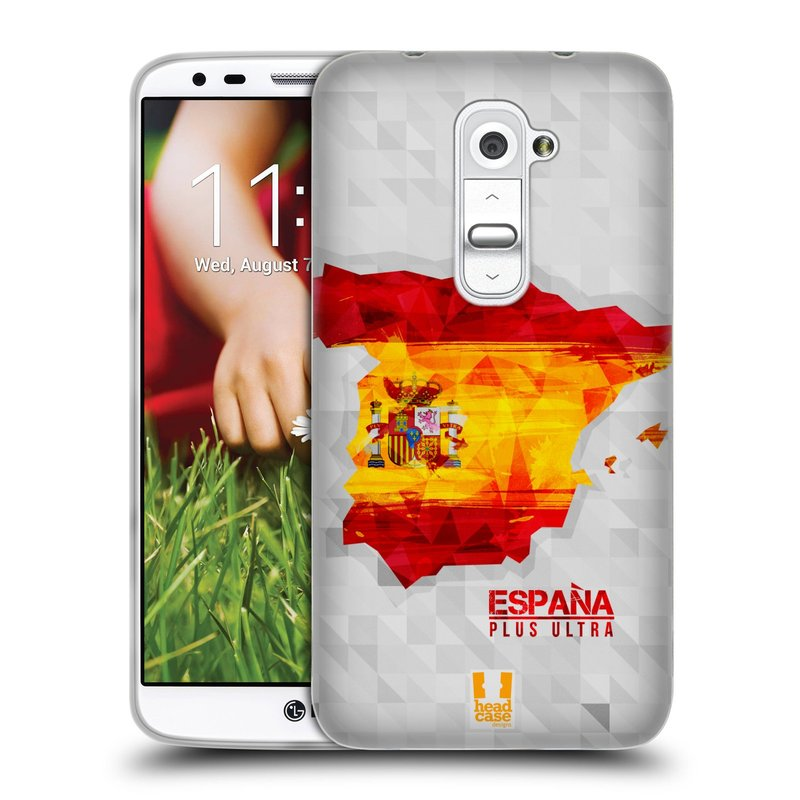 Silikonové pouzdro na mobil LG G2 HEAD CASE GEOMAPA ŠPANĚLSKO (Silikonový kryt či obal na mobilní telefon LG G2 D802)